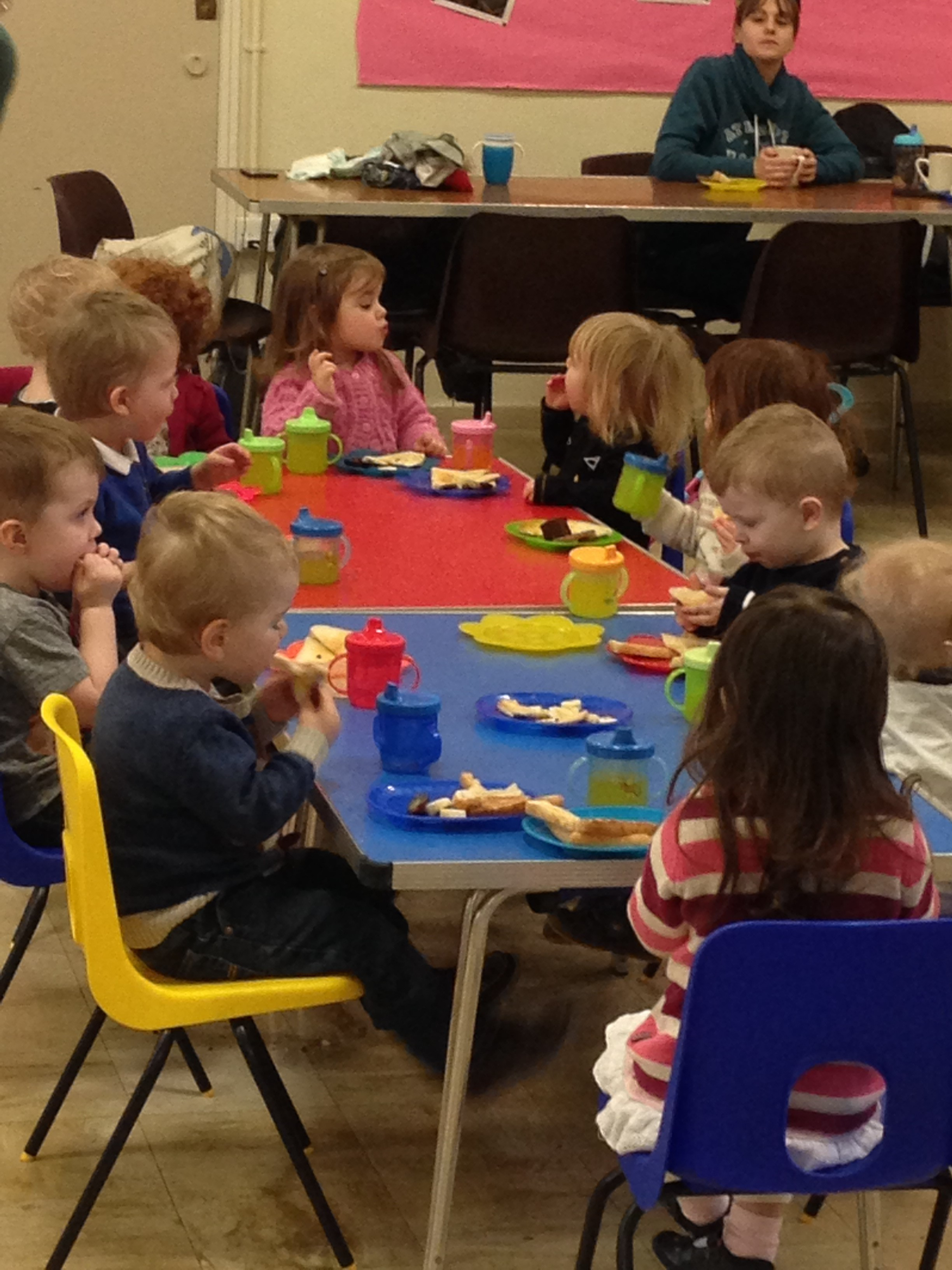 Snack time at Tots